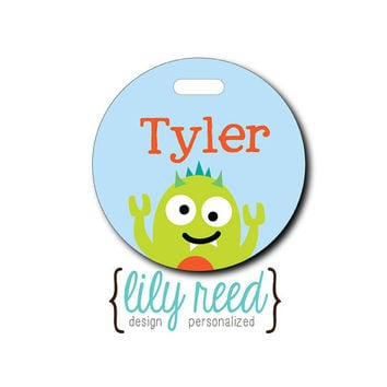 Monster...Personalized Luggage Bag Tag