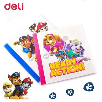 Deli Paw patrol notebook 210*210mm Student Drawing Book Blank Sketch Painting travelers notebook school chancery stationery gift