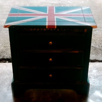 Union Jack Dresser, Night Stand or Keep Safe Cozy