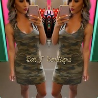 Hide Out Camo Dress