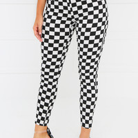 Game Over Pant - Black Checker