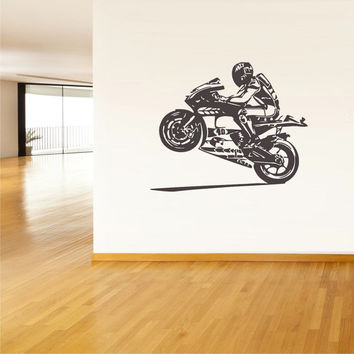 rvz035 Wall Vinyl Sticker Decals Moto Motorcycle Helmet Moto Gp