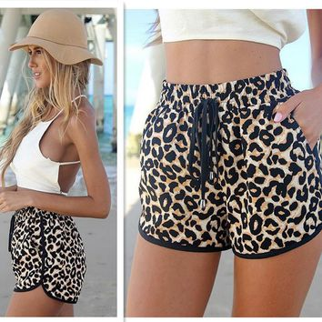 Womens Stylish Cougar Print Summer Shorts