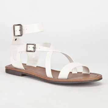 City Classified Bangle Womens Sandals Off-White  In Sizes