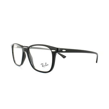 Ray-Ban Glasses Frames 7119 2000 Black Mens Womens 53mm b3d882b1a4