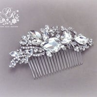 Wedding Hair comb Bridal hair comb Tiara Rhinestone Hair Comb Crystal Hair Comb hair accessory Brooch Comb Wedding Jewelry Bridal accessory