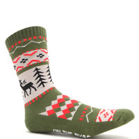 On The Byas Reindeer Crew Socks at PacSun.com
