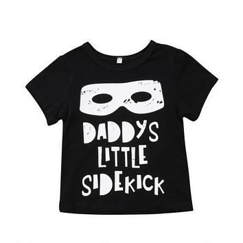Toddler Kids Baby Boy Girl daddy Tops Summer Clothes Cotton T-shirt Tops Tee Outfits