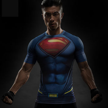 BAOLONG Batman VS Superman T Shirt Tee 3D Printed T-shirts Avengers iron man Civil War crossfit  camiseta gymshark De kleren