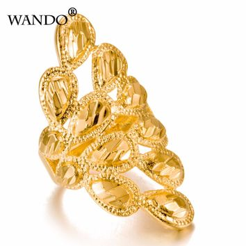 WANDO Jewelry Can Free size Gold Color Fashion Ring for Women/Madam Arab Ethiopian Jewelry Birthday Party Gifts wr7