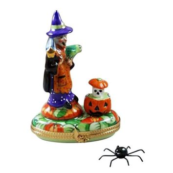 Witch Toad and Pumpkin Rochard Limoges Boxes