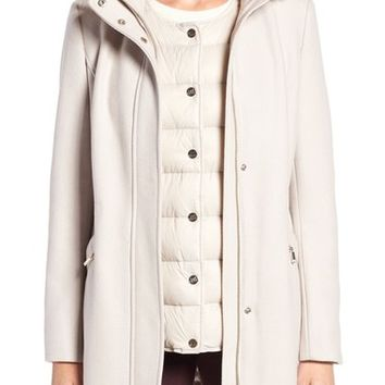 Ivanka Trump Faux Fur Trim Parka with Down Puffer Vest | Nordstrom