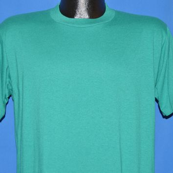 80s Teal blank JERZEES t-shirt Large