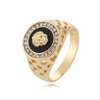 Versace Women Fashion Medusa Plated Ring Jewelry