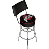 Ohio State Shadow Brutus Padded Bar Stool with Back