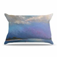 """Carol Schiff """"Heading Out"""" Blue Nature Pillow Case"""