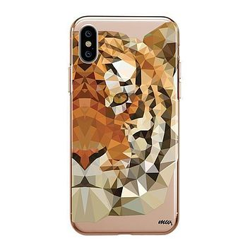 Geometric Tiger - iPhone Clear Case