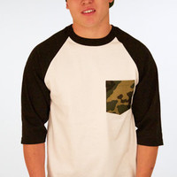 Defyant Camo Pocket Raglan : Karmaloop.com - Global Concrete Culture