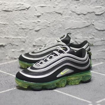 Nike Air Max 97 VaporMax Q100-3200 Black Grey Green Sport Running Shoes