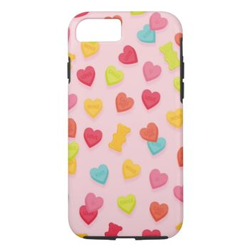 Candy Hearts iPhone 8/7 Case