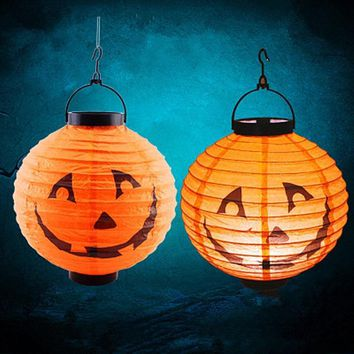 Pumpkin Spider Bat Skull Bones LED Paper Lantern Booing Halloween Decoration for Home Cosplay Props Festive Party DIY Supplies