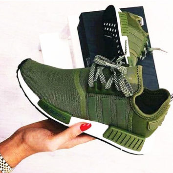 """Adidas"" NMD Women Fashion Trending Running Sports Shoes Sneakers Army green"
