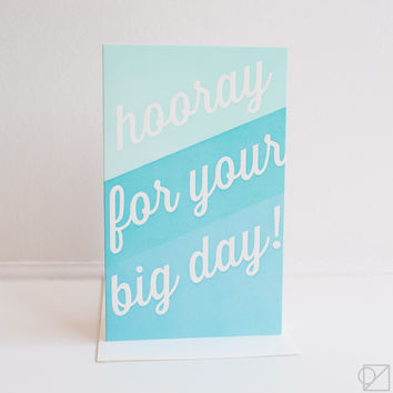 Hooray For Your Big Day Greeting Card