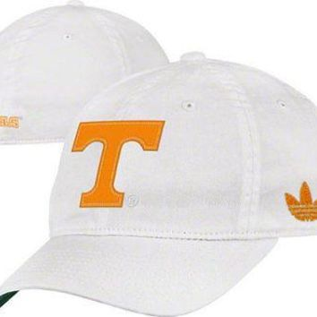Adidas Tennessee Volunteers Slope Flex Cap L/XL White Logo Hat