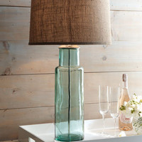 Green Glass Lamp - Horchow