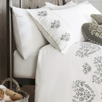 Buy Fairisle Heart Embroidered Bed Set from the Next UK online shop