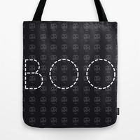 Boo Halloween Tote Bag by hannahclairehughes | Society6