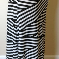 Black and white striped skirt, maxi skirt, summer skirt, skirt, maternity skirt, long skirt