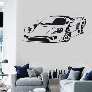Wall Stickers Vinyl Decal Sports Car Racing Garage Rally ig1305