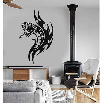 Wall Stickers Vinyl Decal Snake Fire Tribal Reptile Decor Unique Gift (ig208)