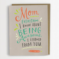 Don't Tell Dad Mother's Day Card, Being Awesome Mother's Day Card, Funny Mother's Day Card 199-C