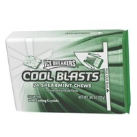 ICE BREAKERS COOL BLASTS Chews (Spearmint, 0.8-Ounce, Pack of 6)