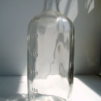 Vintage Clear Glass Laboratory Bottle  Apothocary by ThirdShift
