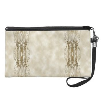 Golden Pillars Wristlet Purse
