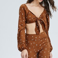 Cry Me A River Woven Pant Set in Brown