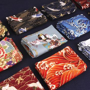 Japanese Sushi Cloth Napkins Kitchen Tea Towels Cotton Linen Placemats Gift Wrapped Fabric Covered Cloth