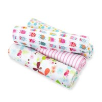 aden™ by aden + anais® for Zutano 4-Pack Cotton Muslin Swaddle in Owl/Pink