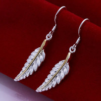 Feather Silver Earring