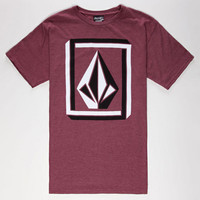 Volcom Interlock Mens T-Shirt Burgundy  In Sizes