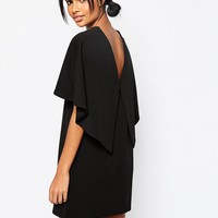 ASOS Shift Dress In Crepe With Cape Back