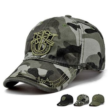 Brand New Fashion Outdoor Army Camo Baseball Cap Men Women Tactical Sun Hat Lett