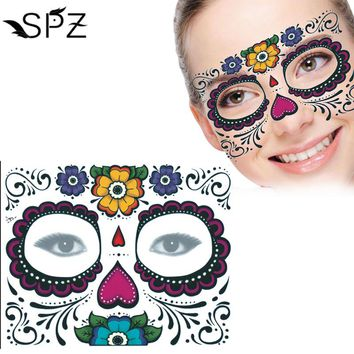 10pcs Disposable Eyeshadow Sticker Magic Eye Face Lace Style Waterproof Temporary Tattoo For Beauty Makup Stage Halloween Party