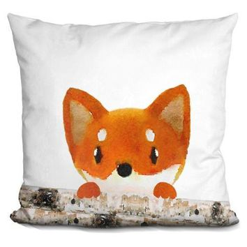Fox Logs Half Pillow
