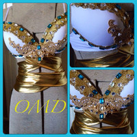 Egyptian goddess rave bra/Halloween costume