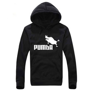 2016 Pumba Black Hooded Sweatshirt with Hoodies Men Brand in Mens Hoodies and Sweatshirts Plus Size M-2XL Free Shipping