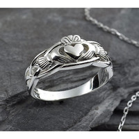 F1347E Silver Claddagh Ring | University Of Notre Dame